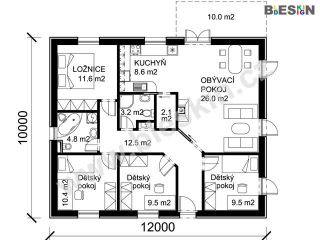 Projekt Bungalov C2 Projekty Rodinnych Domu Bleskin Cz
