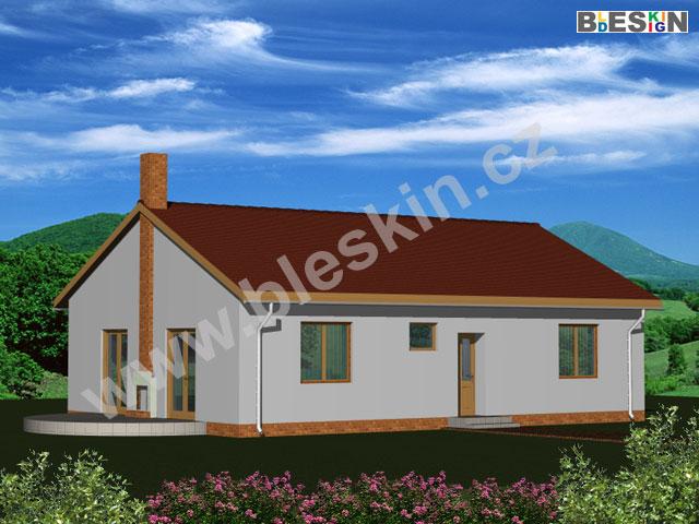 Projekt bungalovu e2 velmi vkusné francouzské dveře zavedou do